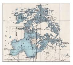 Boundary Waters Map Hand Painted Map Of Lake Of The Woods Boundary Waters