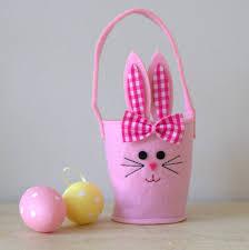 bunny easter basket pink bunny easter basket by ella notonthehighstreet