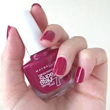 maybelline superstay 7 day nail colour divine wine
