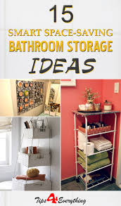 bathroom space saver ideas 15 smart space saving diy bathroom storage ideas