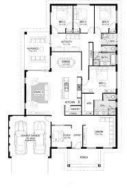 One Story 4 Bedroom House Plans by Simple Bedroom House Plan With Concept Photo 63111 Fujizaki