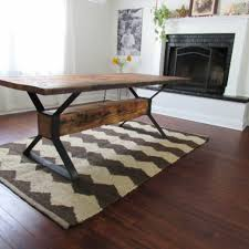 industrial kitchen table furniture handmade industrial trestle reclaimed wood dining table by the