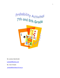 probability activities 7th u0026 8th grade