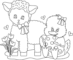 image easter lamb coloring pages 17303 bestofcoloring
