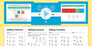 year 3 adding fractions powerpoint and worksheets year 3 year