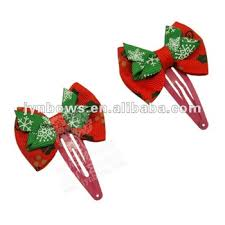 christmas hair accessories grosgrain christmas hair bows metal clip view metal clip jynbows