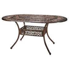cast aluminum dining table tucson oval cast aluminum dining table shiny copper christopher