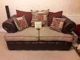 Sofas Chesterfield Style by 2 X 2 Seater Sofa Chesterfield Style Cushion Back Settees Plus 1