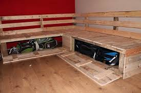 How To Build A Sectional Sofa Diy Pallet Bench With Storage Diy Pallet Sectional Sofa With