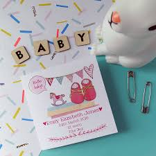 baby announcement cards personalised new baby announcement cards pack of six by