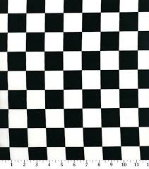 black and white fabric pattern novelty cotton fabric 45 black white racing check joann