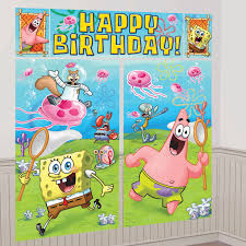 halloween scene setters spongebob scene setter decoration set birthdayexpress com
