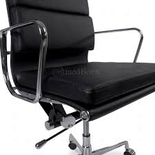 eames style office chair high back soft pad leather replica