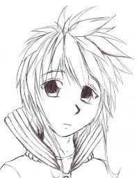 boy manga head drawing by inemiset on deviantart