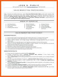professional marketing resume sales marketing resume