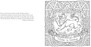 the official a game of thrones coloring book by george r r