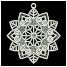 fsl snowflake ornament embroidery designs machine embroidery