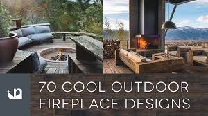 70 cool outdoor fireplace designs home fire pits youtube