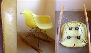 eames lemon yellow edge all vintage rocker zenith herman