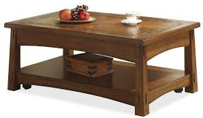 Flip Top Coffee Table by Riverside Furniture Craftsman Home Lift Top Coffee Table With