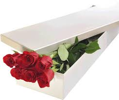 Roses In A Box Half A Dozen Red Roses In A Box Red Roses Flowers In Melbourne