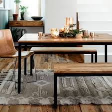 diy dining table bench box frame dining table wood west elm pertaining to dinner table