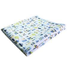 Waterproof Crib Mattress Pad Mykazoe Waterproof Crib Mattress Pad Blue Car Baby Bedding Center
