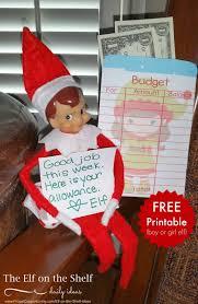 printable elf girl elf on the shelf ideas elf money envelope printable