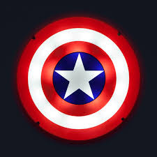 captain america shield light target captain america 3d wall art nightlight