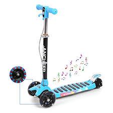 si e enfant scooter amdirect trottinette 3 roues scooter pliable avec lumière et musique