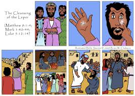 the cleansing of the leper illustrated bible stories by brian w
