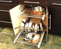 kitchen cabinet organizers for pots and pans pot and pan lid organizer pots and pans cabinet organizer pull out