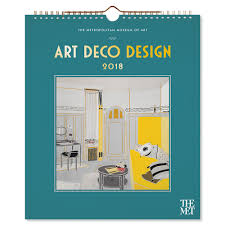art deco design wall calendar 2018 the met store