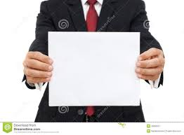blank paper to write on mid section of a business with an empty paper royalty free