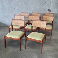 set of eight mid century jens risom