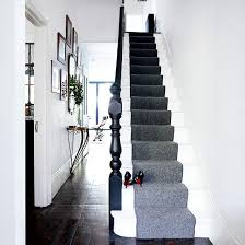 sophisticated hallway grey runner defines the space and