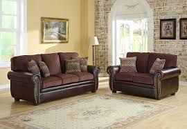 luxurius living room colors with brown leather furniture sac14