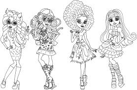 monster high coloring pages frights camera action free printable monster high coloring pages monster high coloring