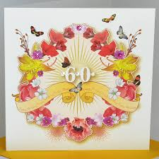 60 years birthday card card invitation sles 60th birthday cards square floral for