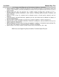 Production Operator Resume Sample by Equipment Operator Resume Example