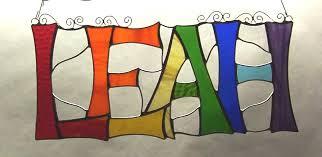 basic 4 letter name any colors custom green heron glass studio