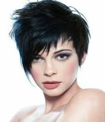 hairstyles back view only this assymetrical pixie combines a structured shape with a
