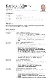 equipment operator resume samples visualcv resume samples database