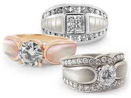 Pearl Wedding Rings by Pearl Wedding Rings With Diamonds Wedding Decorate Ideas