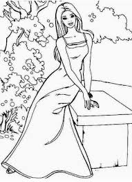 barbie outline coloring pages coloring pages