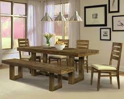 Dining Room Table Centerpiece Decor Amusing Natural Cherry Wood Rustic Dining Room Table With
