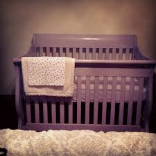 Graco Lauren Signature Convertible Crib Rustic Cherry by Self Painted Purple Crib Mommyhood Pinterest Babies And Nursery