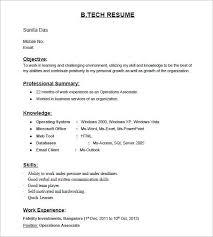 standard format of resume for freshers sample of standard resume