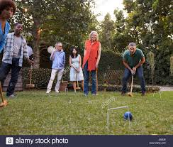 backyard croquet stock photos u0026 backyard croquet stock images alamy