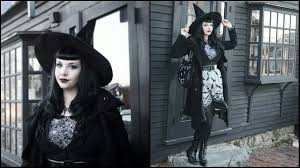bygone witch costume halloween weekend goth witch city lookbook youtube